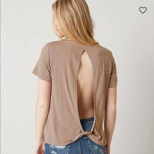GILDED INTENT BUCKLE crackle top open back XS